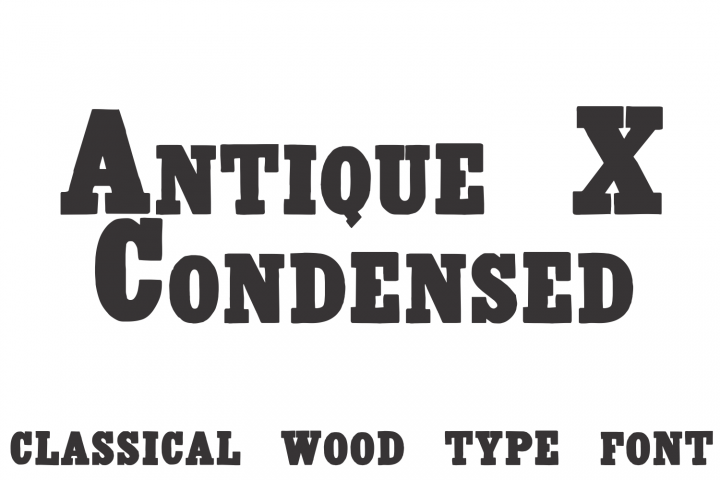 Antique X Condensed