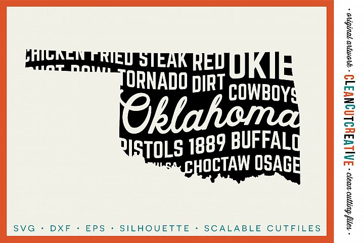 Oklahoma State design - SVG DXF EPS PNG - Cricut & Silhouette - clean cutting files