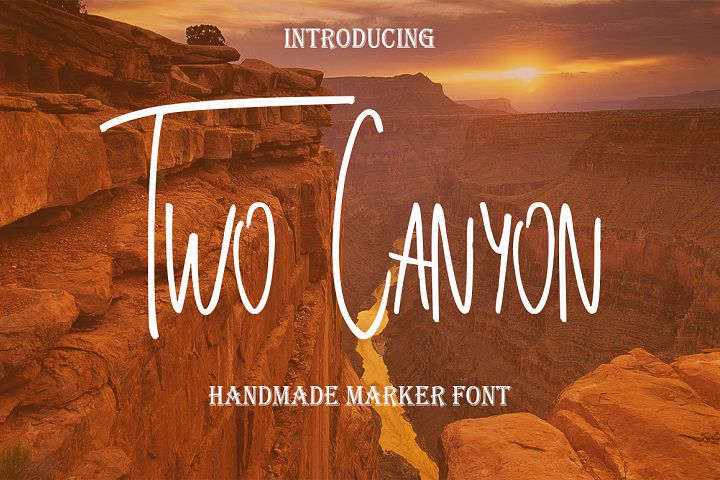 Two Canyon - Free Font of The Week