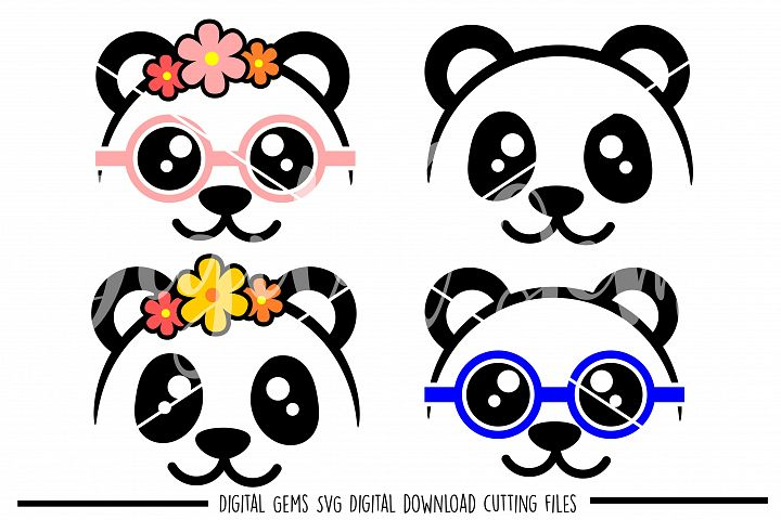 Panda Face SVG / PNG / EPS / DXF Files
