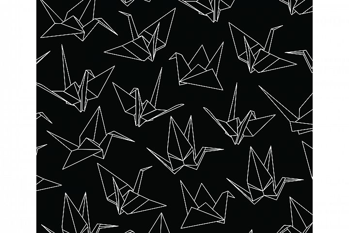 Paper Cranes Seamless Pattern