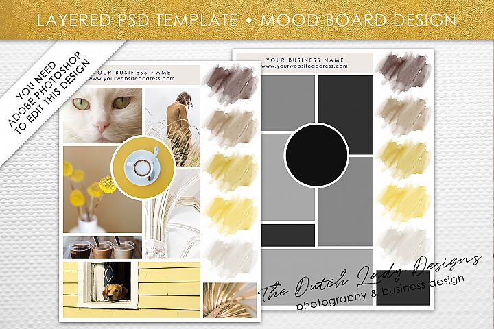 Mood & Vision Board Template for Adobe Photoshop - Layered PSD Template - Design #5