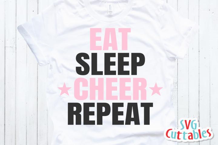 Cheer svg | Eat Sleep Cheer Repeat | Cheer Cut File