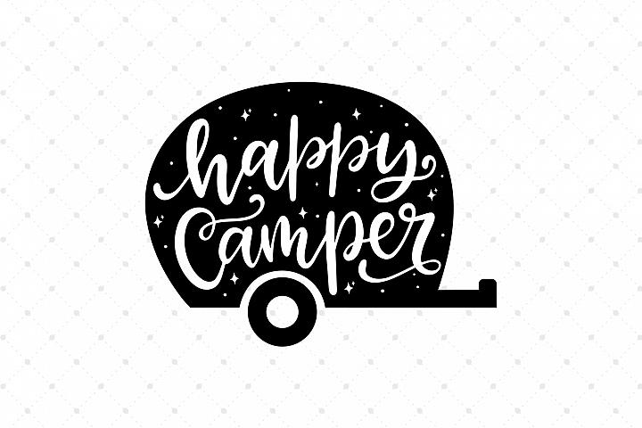 Happy Camper SVG Cut Files