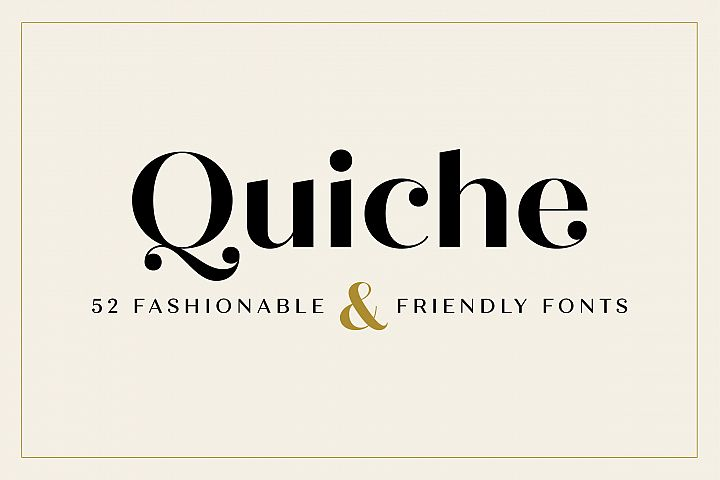 Download Quiche Font Family Font - Free Awesome Fonts Bundle