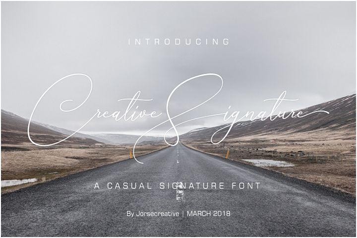 Creative Signature Font