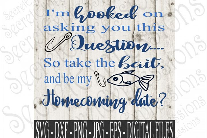 Im hooked on asking you this question... So take the bait and be my Homecoming Date?
