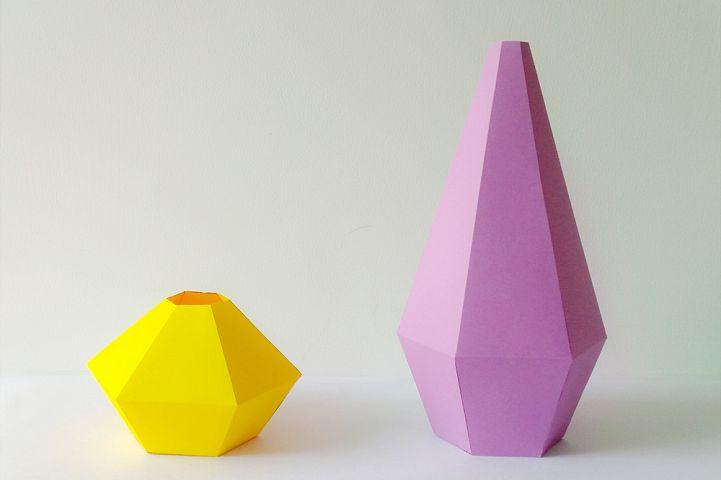 DIY Paper Vases - 3d papercraft
