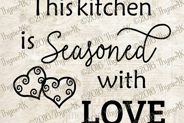 This kitchen is Seasoned with Love Digital Design