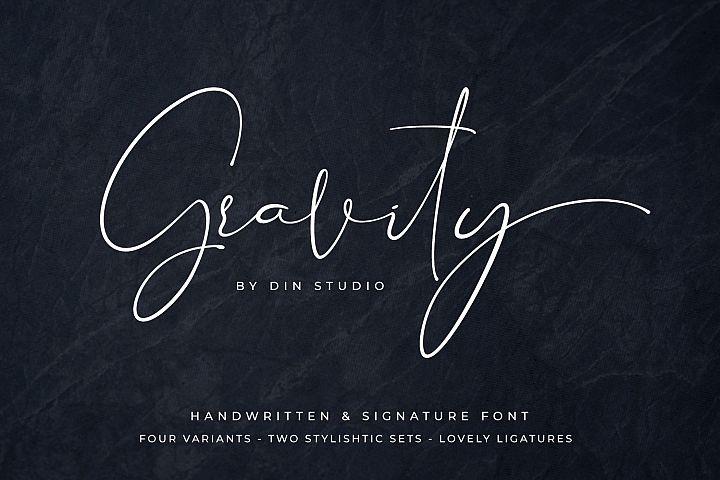 Gravity-Handwritten & Signature
