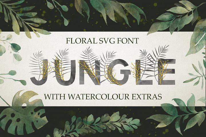 Jungle. SVG font extras