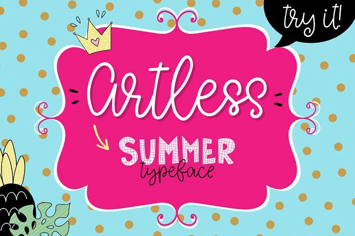 Artless Typeface - Summer Font