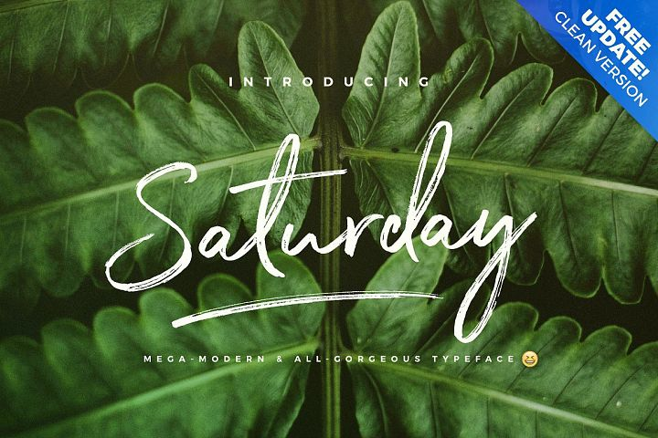 The Saturday Typeface
