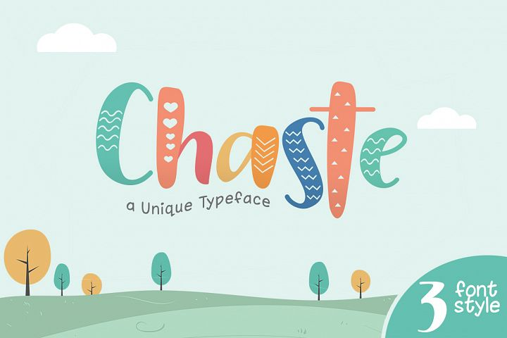 Chaste Display 3 Font