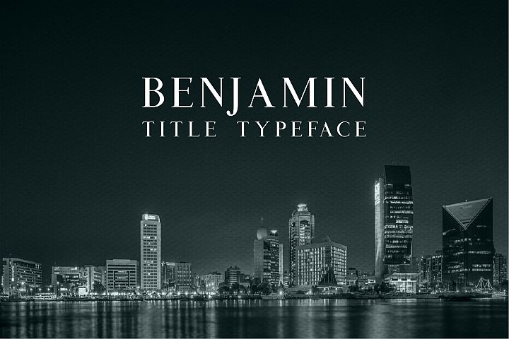 Benjamin Title - Free Font of The Week