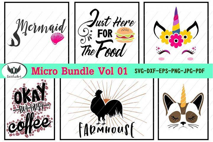Micro Bundle Vol 1, cut files