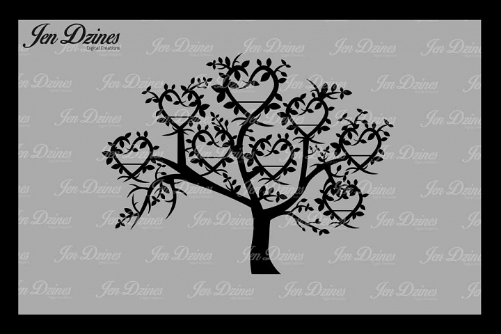 Family Tree 8 Names SVG DXF EPS PNG
