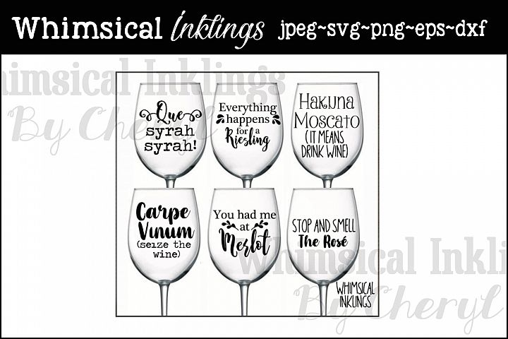 Wine Funnies SVG Cutter Files