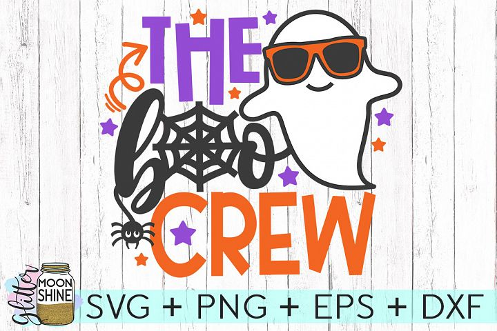 The Boo Crew Halloween SVG DXF PNG EPS Cutting Files