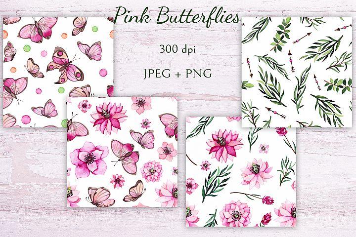 Pink Butterflies example 6