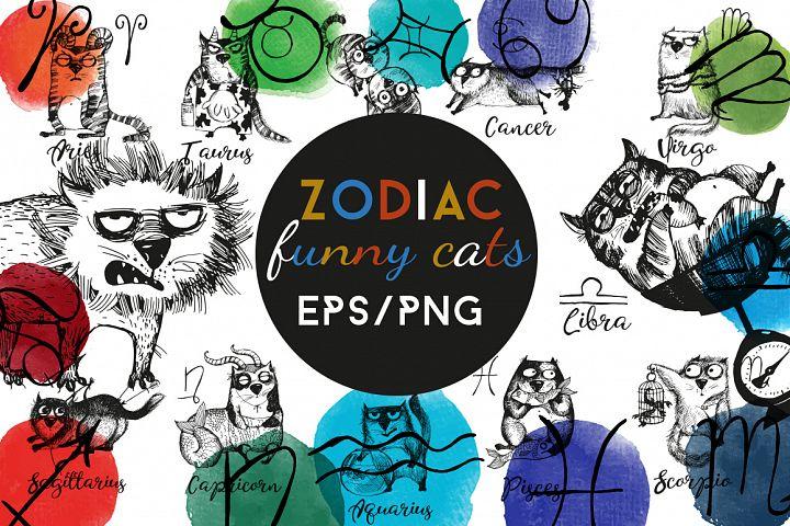 Zodiac funny cats