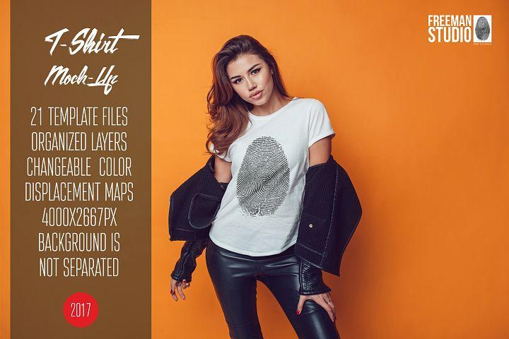 T-Shirt Mock-Up Vol.22 2017