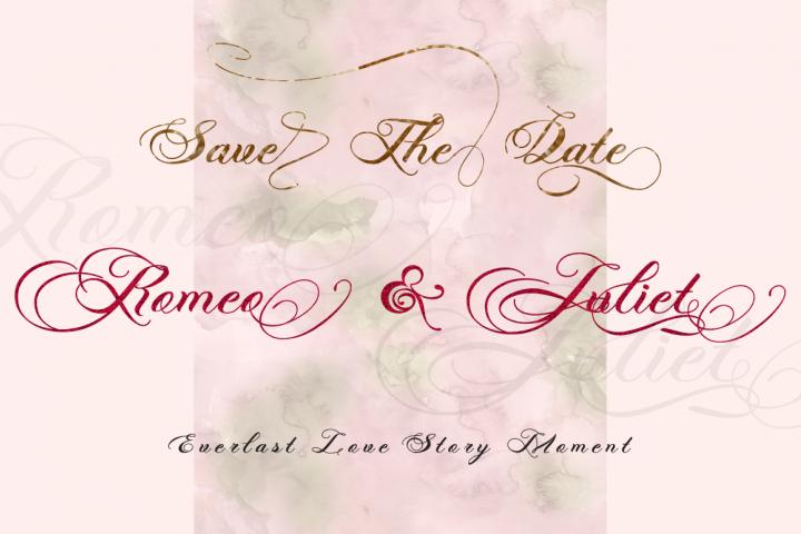 Photograph - Script Wedding Font - Free Font of The Week Design 6