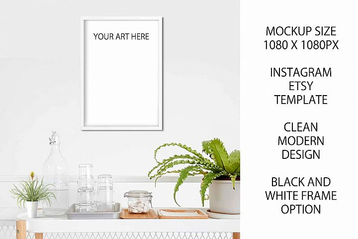 A4 Art Photography Frame Mockup for Etsy / Instagram