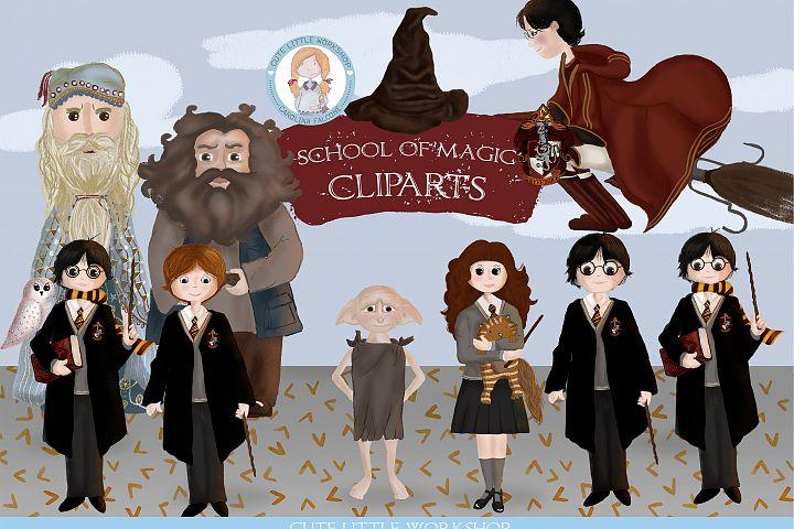 School of Magic Cliparts