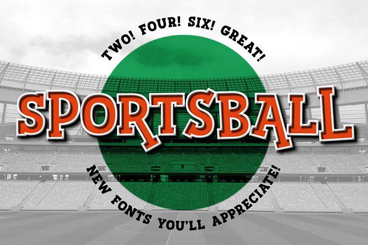 Sportsball: fun font with alternates!