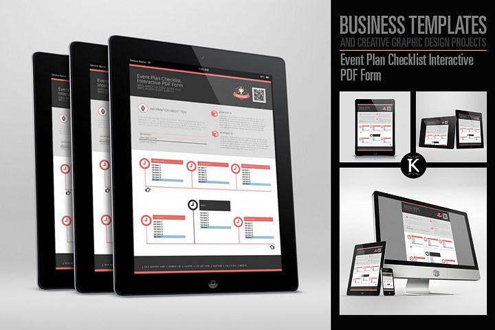 Event Plan Checklist Interactive PDF Form