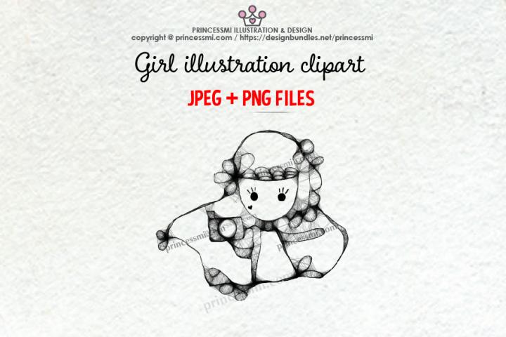 GIRL holding camera illustration clipart 3