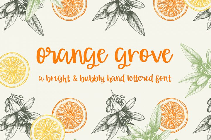 Orange Grove Script - Free Font of The Week Font