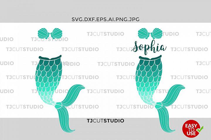 Mermaid Tail SVG Mermaid Monogram SVG, Fish Mermaid ,Mermaid Monogram Svg, Files for Silhouette Cameo or Cricut, Commercial & Personal Use.
