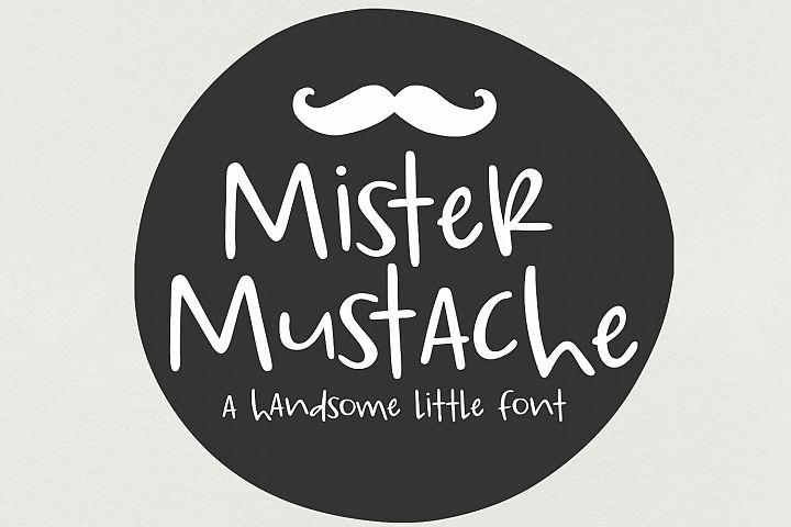 Mister Mustache- Handwritten Font