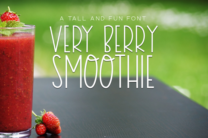 Very Berry Smoothie - Tall and Thin Font