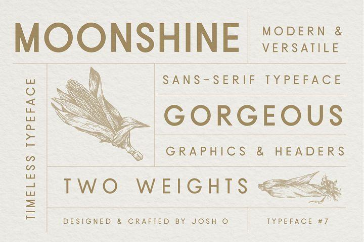Moonshine Font   A Classic Sans Serif