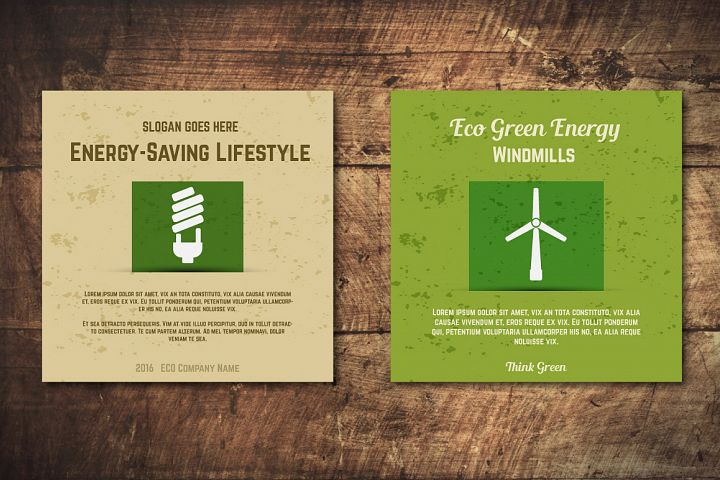 5 Eco Poster Concepts & Stickers example 2