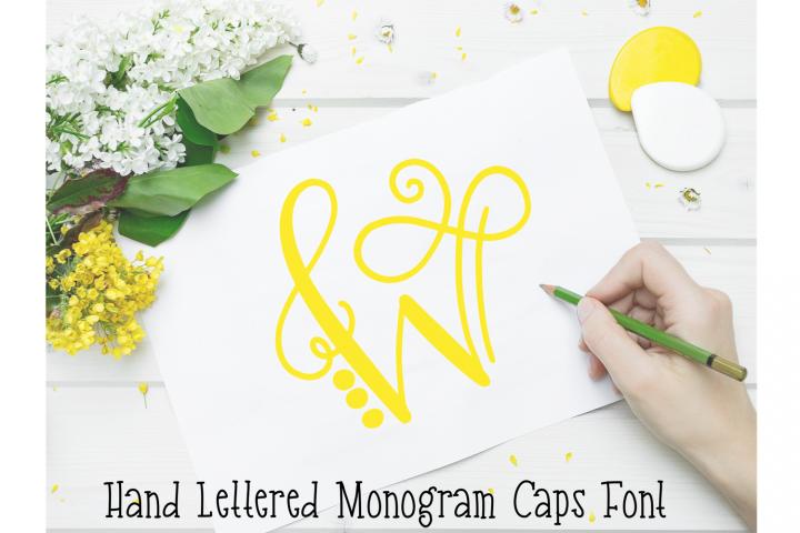 Monogram Hand Lettered Font