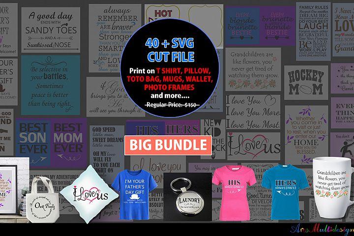 Svg cut file bundle /over 40 plus cut files /print on T shirt / print on pillow / print on toto bag / print on mug / SVG / Eps /Dxf / Png /Jpg
