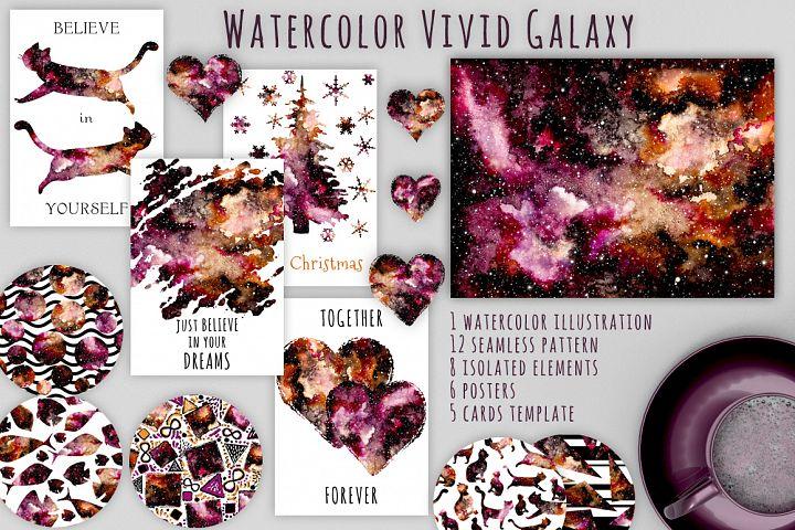 Watercolour Nebula Set