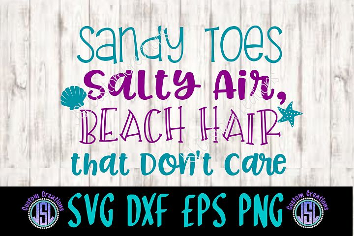Beach Hair Dont Care SVG EPS DXF PNG Digital Download
