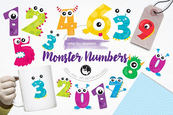 Monster Numbers graphics and illustrations