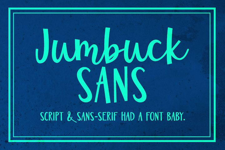 Jumbuck Sans: a sans-serif script font!