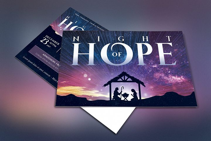 Christmas Hope Cantata Flyer Template