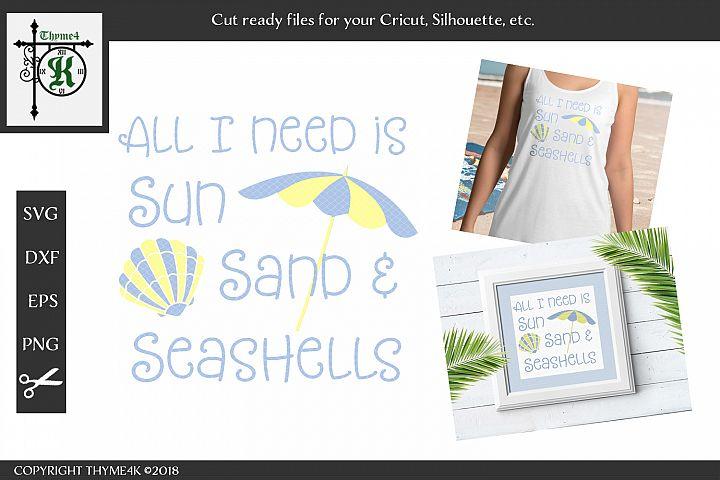 Sun, Sand & Seashells Digital Design