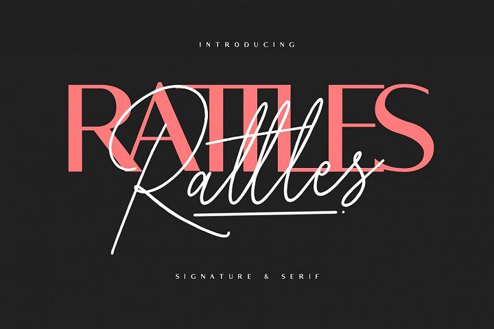 Rattles Signature plus Serif