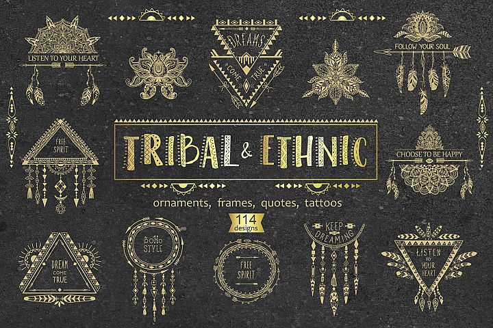 Tribal & Ethnic Style Designs.