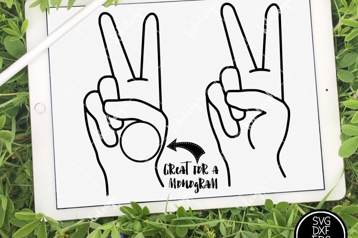 Peace Sign Clipart and Monogram