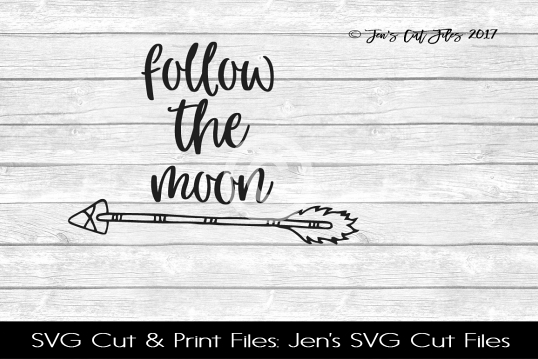 Follow The Moon SVG Cut File